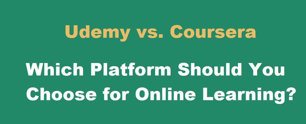 Online Course Review - Udemy vs  Coursera org | Moneycourses net